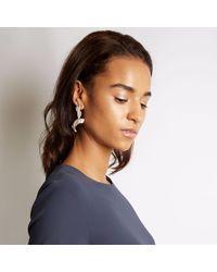 Loveness Lee - Metallic Thala Asymmetrical Silver Cuff & Drop Earrings - Lyst
