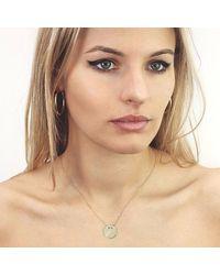 Talia Naomi - Metallic Golden Eclipse Necklace Gold - Lyst