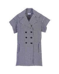 Acephala - Blue Tailored Gingham Dress - Lyst