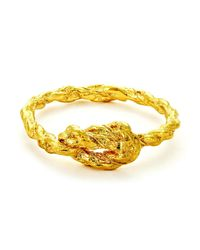 Chupi - Metallic Forget Me Knot Ring In Gold - Lyst