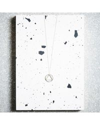 KIND Jewellery - Metallic Silver Elements Pendant Necklace - Lyst