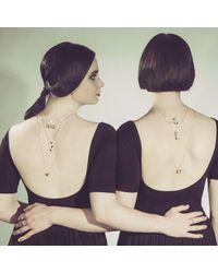 Yasmin Everley Jewellery - Metallic Saxony Y Initial Necklace - Lyst