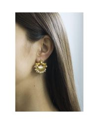 Carousel Jewels - White Mother Of Pearl And Crystal Earrings - Lyst