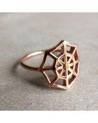 Latelita London - Metallic Cosmic Spiderweb Ring Gold - Lyst