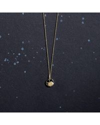 KIND Jewellery - Metallic Gold Mini Soleil Disc Necklace - Lyst
