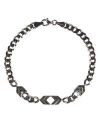 Latelita London - Metallic Mens Arrow Chevron Bracelet Oxidised Sterling Silver for Men - Lyst