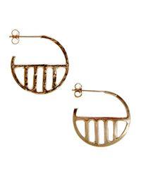 KIND Jewellery - Metallic Gold Eclipse Hoop Earrings - Lyst
