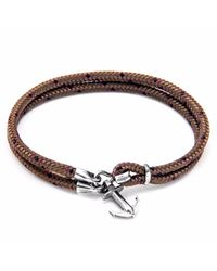 Anchor & Crew | Metallic Brown Brighton Silver & Rope Bracelet for Men | Lyst