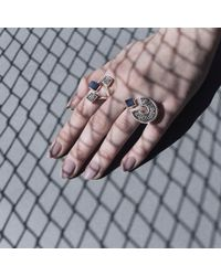 JUDE BENHALIM - Black Roundabout Ring - Lyst
