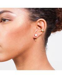 Dutch Basics | Porcelain Detachable Drop Earrings White | Lyst