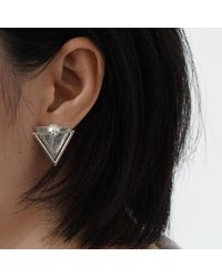 J.Y. GAO - Metallic Ode To Oyster Earrings - Lyst