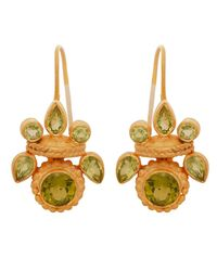 Carousel Jewels - Green Intricate Peridot Heritage Earrings - Lyst