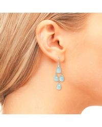Latelita London - Multicolor Mini Cascade Silver Aqua Chalcedony - Lyst