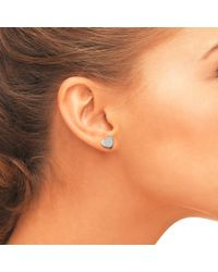 Latelita London - Metallic Cosmic Mini Heart Stud Earring Silver - Lyst