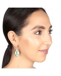 Carousel Jewels - Blue Oval & Circle Turquoise Earrings - Lyst