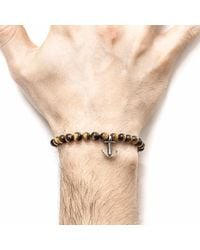 Anchor & Crew - Multicolor Brown Tigers Eye Starboard Silver & Stone Bracelet for Men - Lyst