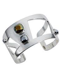 Nadia Minkoff   Metallic Wide Statement Cuff Chrome   Lyst