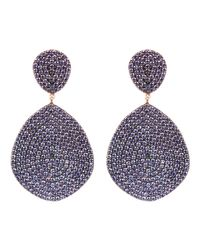 Latelita London - Multicolor Monte Carlo Earring Rosegold Amethyst Zircon - Lyst