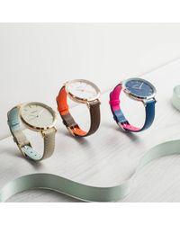 Auree Jewellery - Metallic Montmartre Sterling Silver Watch With Chestnut Brown & Orange Strap - Lyst