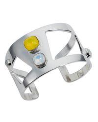 Nadia Minkoff - Metallic Wide Statement Cuff Silver Yellow - Lyst