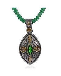 Emma Chapman Jewels - Green Madison Tsavorite & Diamond Pendant - Lyst