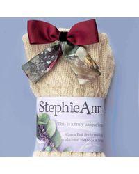 StephieAnn - Multicolor Alpaca Socks With Red Bow - Lyst