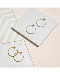 Myia Bonner - Metallic Silver Large Hoop Earrings - Lyst