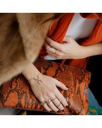 Sadekar Jewellery - Metallic Gear Hand Chain With Brown Diamond - Lyst