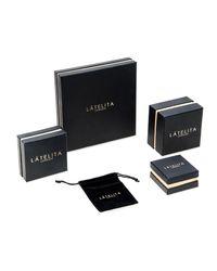Latelita London - Metallic Sterling Silver Sparkling Hoop Earring White Cz - Lyst