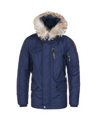 Parajumpers. Men's Marine Blue Right Hand Parka
