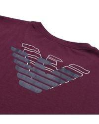 Emporio Armani - Purple Burgundy Slim Fit Underwear T-shirt for Men - Lyst