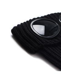 C P Company - Black Woollen Lens Beanie for Men - Lyst