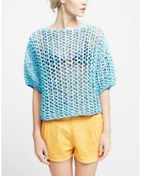 Wool And The Gang   Blue Ariel Top   Lyst