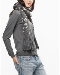 Wool And The Gang | Gray Into The Wild Scarf | Lyst