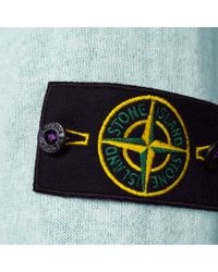 Stone Island - Blue Reversible Cotton Gauze Sweater for Men - Lyst