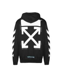 Off-White c/o Virgil Abloh - Black Mona Lisa Arrows Hoodie - Lyst