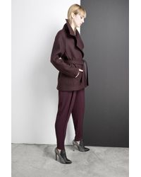 Yigal Azrouël - Purple Oversized Coat - Lyst