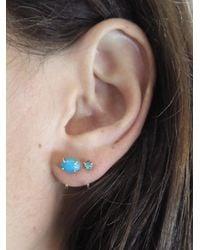 Melissa Joy Manning - Blue Turquoise Hug Hoop Earrings - Lyst