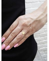 Jennifer Meyer - Metallic Diamond Mini Disc Initial Ring - Lyst