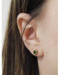 Cathy Waterman - Multicolor Tsavorite Heart Stud Earrings - Lyst