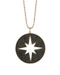 Sydney Evan - Multicolor Cut Out Black Diamond Starburst Necklace - Lyst