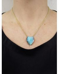 Irene Neuwirth - Blue 25.41 Carat Boulder Opal Heart Necklace - Lyst