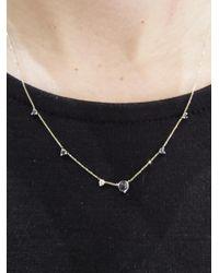 Wwake - Multicolor Linear Moonstone, Sapphire And Diamond Necklace - Lyst
