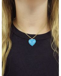 Irene Neuwirth - Blue 24.55 Carat Turquoise Heart Necklace - Lyst