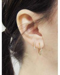 Jennifer Meyer - Metallic Diamond Mini Trillion Hoop Earrings - Lyst