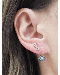 Sydney Evan - Multicolor Diamond Infinity Stud Earring - Lyst