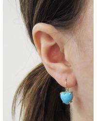 Irene Neuwirth - Blue 11mm Cabochon Heart Kingman Turquoise Earrings - Lyst