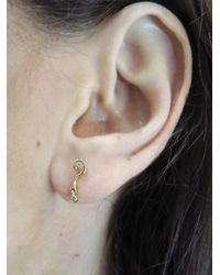 Lulu Frost - Metallic Question Mark Stud With Diamond - Lyst