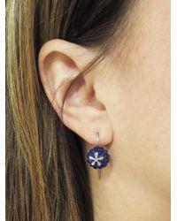 Cathy Waterman - Blue Lapis Daisy Bead Earrings - Lyst