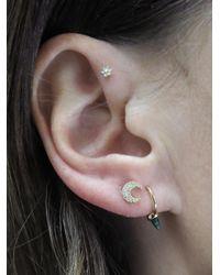 Maria Tash - Metallic Diamond Moon Thread Through Single Earring - Lyst